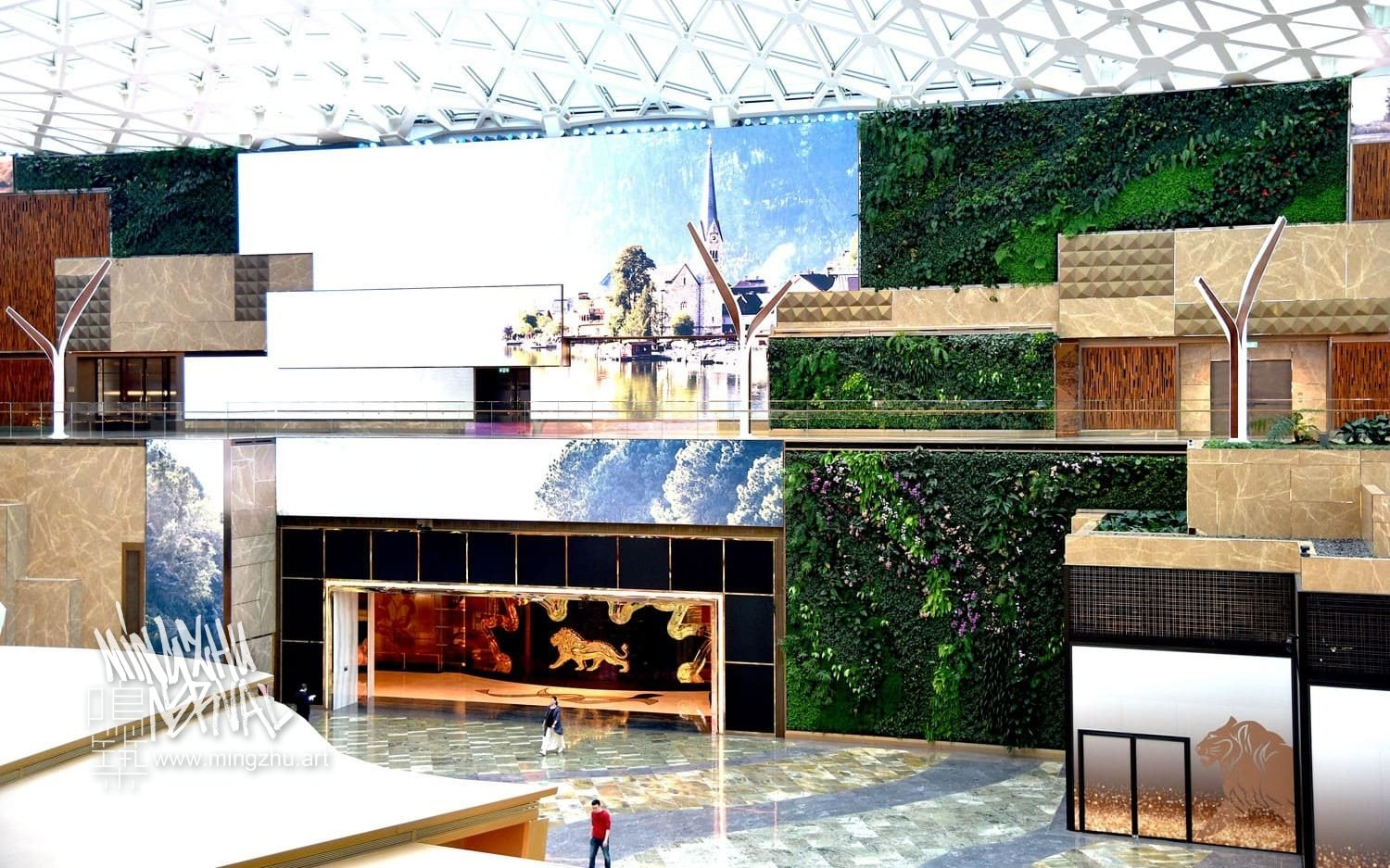 Mingzhu Nerval vertical living wall experts created the best garden design art at the Nature's Art MGM Cotai in Macao, 2018