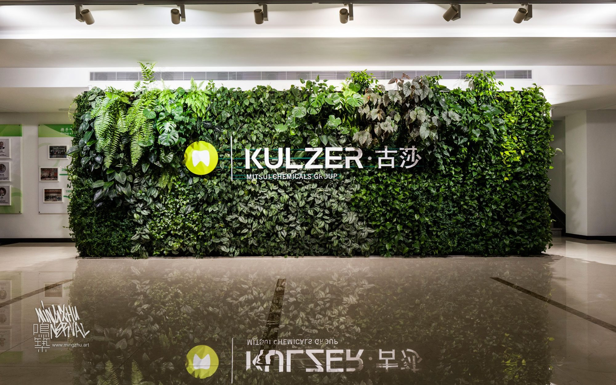 At Mingzhu Nerval, we thrive at creating the most beautiful vertical gardens in the world. For Kulzer, we created a healthy nature workspace design - Shanghai, 2016.