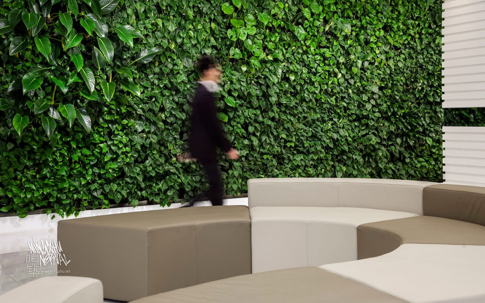 At Mingzhu Nerval, we thrive at creating the most beautiful vertical gardens in the world. For the China Quality Certification Center, we created an enjoyable living wall design - Shanghai, 2013.
