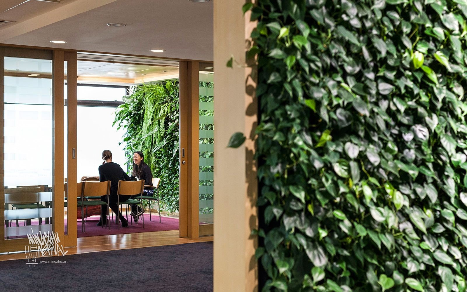 At Mingzhu Nerval, we thrive at creating the most beautiful vertical gardens in the world. For the Swedish Consulate, we created a healthy nature workspace - Shanghai, 2012.