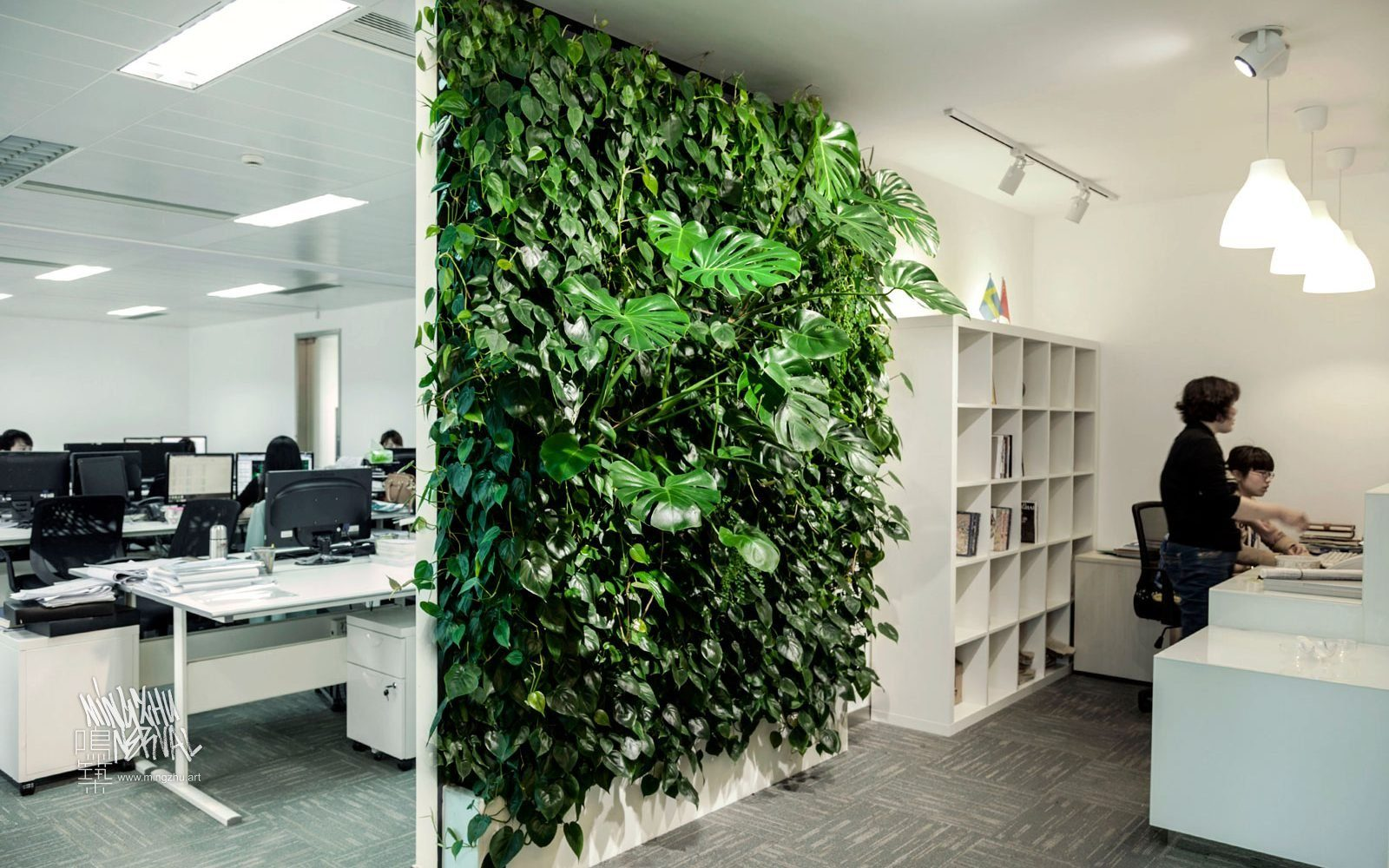 At Mingzhu Nerval, we thrive at creating the most beautiful vertical gardens in the world. For A&A, we created a warm living wall design - Shanghai, 2013.