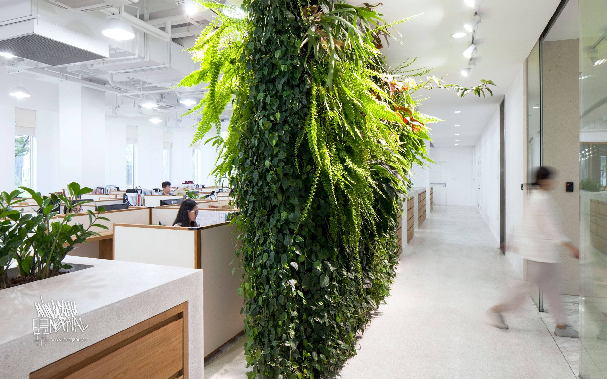 At Mingzhu Nerval, we thrive at creating the most beautiful vertical gardens in the world. For ICICLE, we created an elegant living wall – Shanghai, 2016.