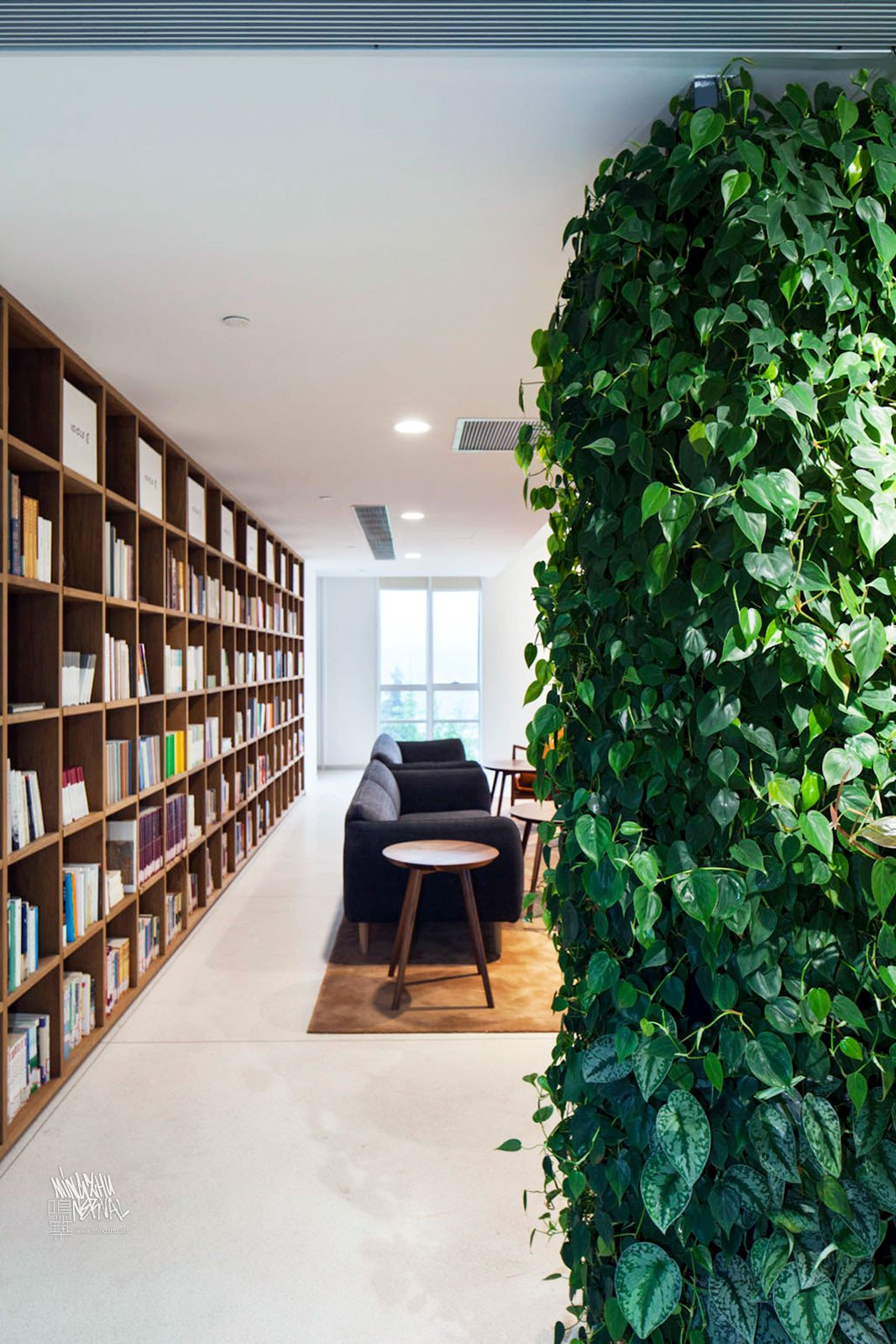 Mingzhu Nerval vertical living wall experts created a healthy nature workspace for the ICICLE Headquarters in Shanghai, 2016
