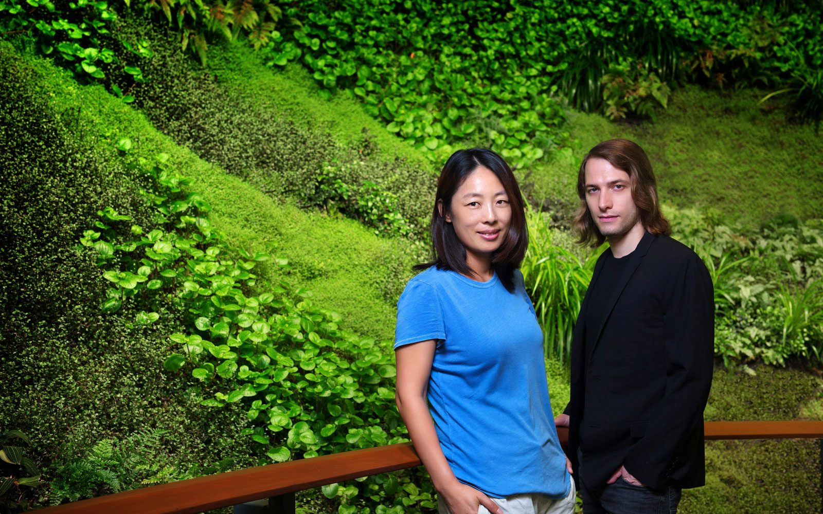 Mingzhu Nerval vertical living wall experts created the best garden design art for this private art foundation in Chengdu, 2016