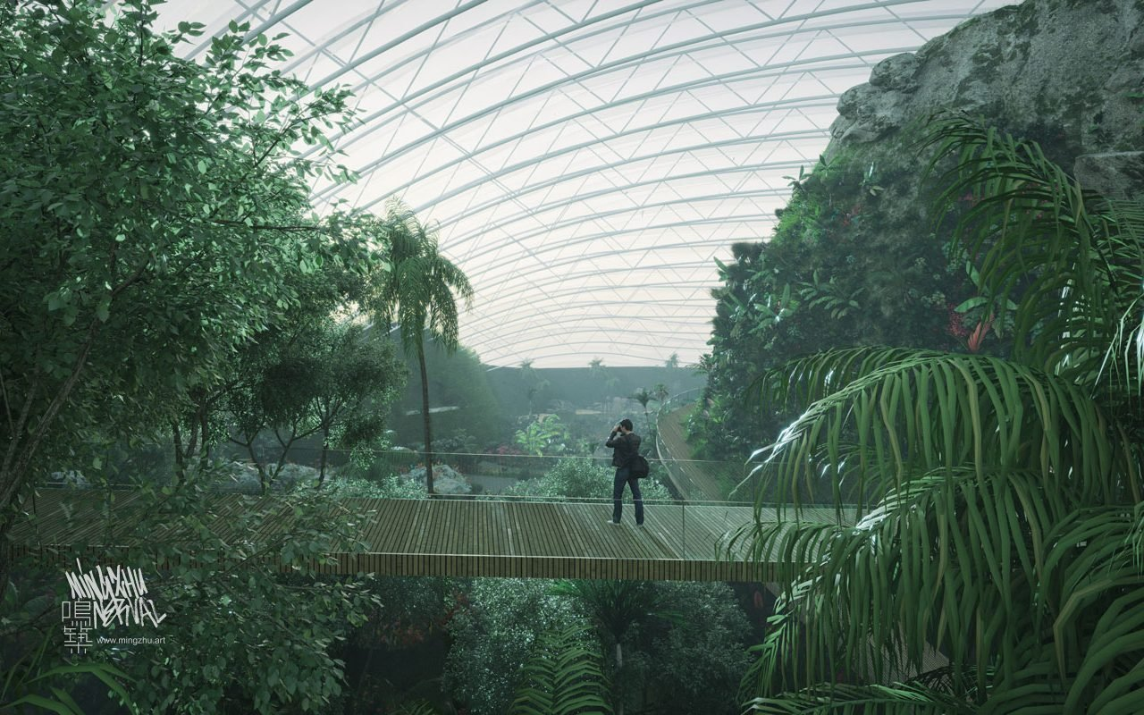 At Mingzhu Nerval, we thrive at creating the most beautiful vertical gardens in the world. For the World's Largest Tropical Dome, we are creating a landscape design – France, 2023.