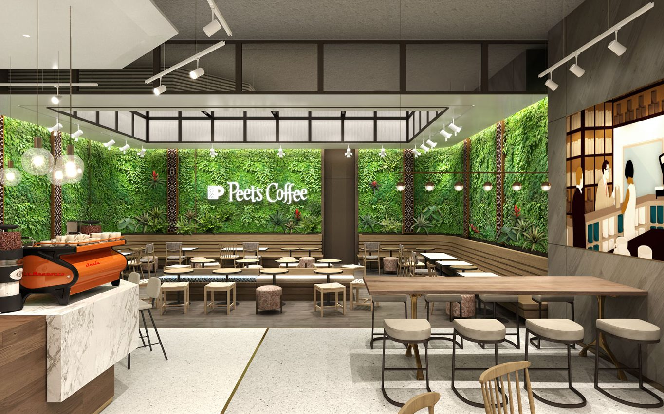 At Mingzhu Nerval, we thrive at creating the most beautiful vertical gardens in the world. For Peet's Coffee, we are creating californian living walls – China, 2020-2022.