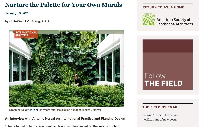 ASLA on living murals and vertical gardens