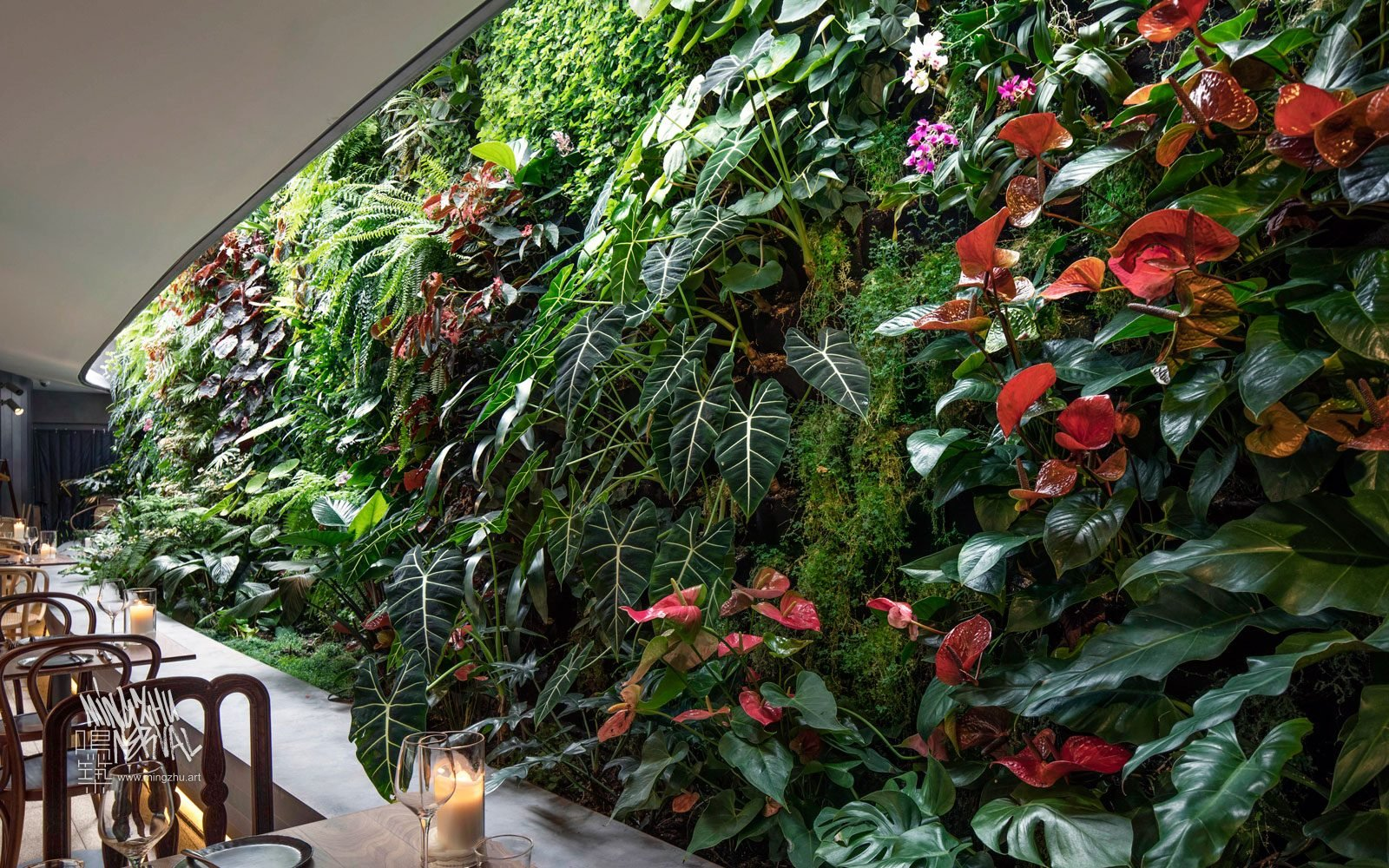 At Mingzhu Nerval, we thrive at creating the most beautiful vertical gardens in the world. For Bloom, we created a wonderful garden restaurant design - Shanghai, 2018.