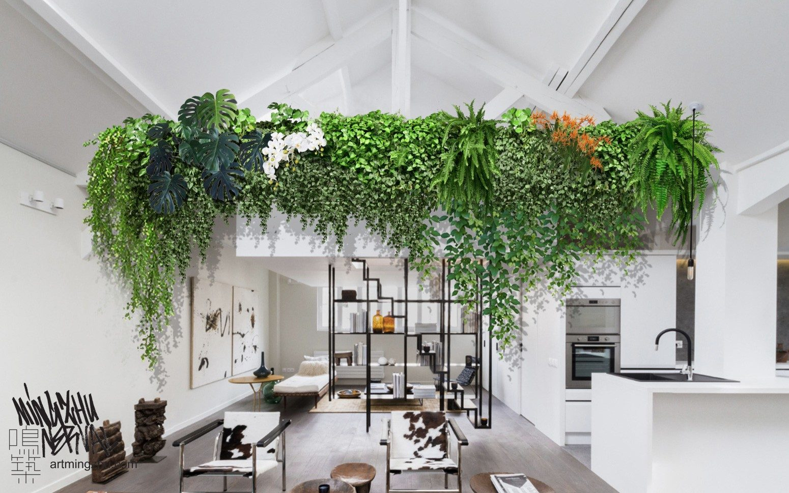 At Mingzhu Nerval, we thrive at creating the most beautiful vertical gardens in the world. For this private apartment, we are creating a living wall design – Paris, 2021.